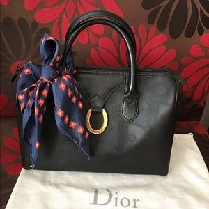 Dior Black  Oblique Canvas Duffle Bag 30""